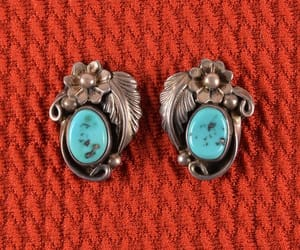 american indian, native american, and vintage earrings image