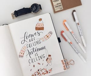 autumn, beige, and journaling image