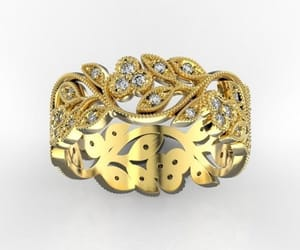 etsy, floral jewelry, and filigree ring image