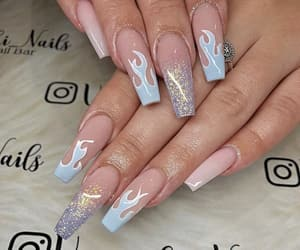 blue, ghetto, and nail art image