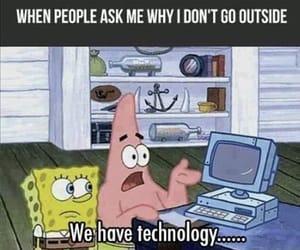 technology, funny, and spongebob image