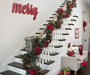 decoration, stairs, and holidayvibes image