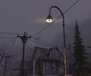 eerie, gloomy, and fallout image