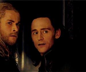 gif, tom hiddleston, and chris hemsworth image