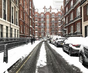 city, road, and snow image