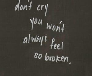 broken, cry, and sad image