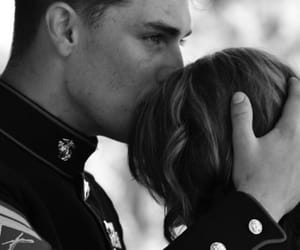 soldier, couple, and love image