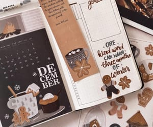 december, decorations, and journal image