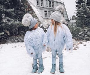 beauty, cold, and girl image