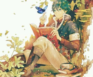 anime, books, and butterfly image