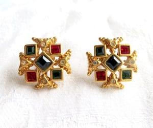 etsy, cross jewelry, and mogul earrings image
