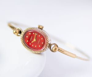 etsy, gold plated watch, and oval women watch image