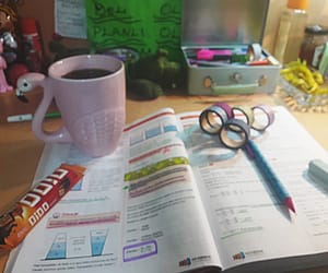 book, coffee, and motivation image