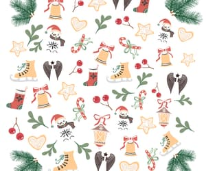 bells, christmas, and hearts image