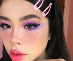 makeup, aesthetic, and hearts image
