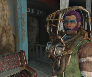 fallout, purple hair, and raiders image