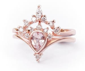 etsy, engagementring, and pink engagement ring image