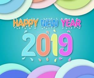 happy new year, new year, and happy new year 2019 image