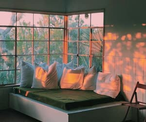 bedroom, pillows, and decoration image
