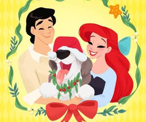 christmas, disney, and little mermaid image