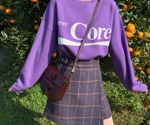 outfit, purple, and clothes image
