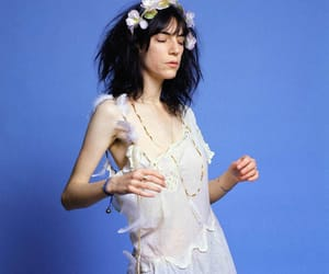 flower crown, my edit, and Patti Smith image