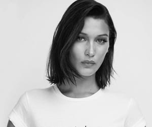 bella hadid, model, and black image