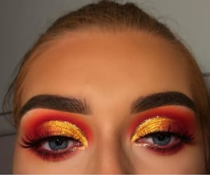 makeup, eyeshadows, and red image