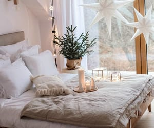 decor, bedroom, and christmas image
