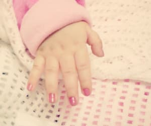 baby, pink, and nail polish image