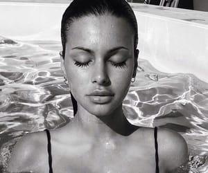 bikini, black, and black white image