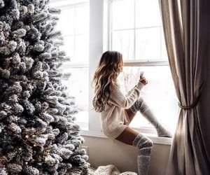 girl, christmas, and fashion image