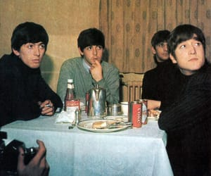 the beatles, john lennon, and vintage image