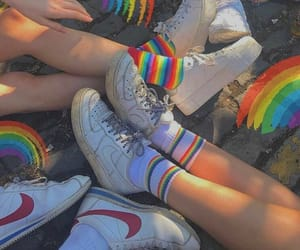 rainbow, aesthetic, and shoes image