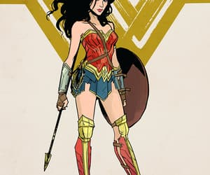 art, wonder woman, and wow image