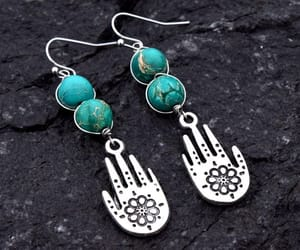 etsy, wire wrapped earring, and jasper earrings image