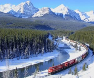 beautiful, canada, and river image