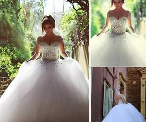 wedding dress, sexy wedding dress, and wedding dress ball gown image