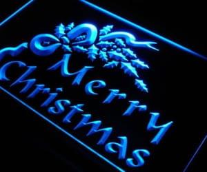 blue, christmas, and glow image
