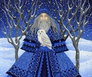 art, christmas, and blue image
