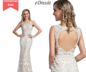 open back, lace party dress, and beaded formal gown image