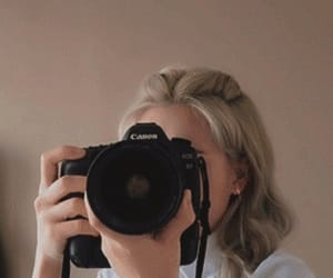 aesthetic, blond, and camera image
