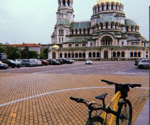 bikers, bulgaria, and cathedral image