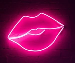neon, lips, and light image
