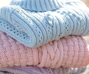 pastel, pink, and sweater image