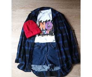 fashion, flannel, and girl image