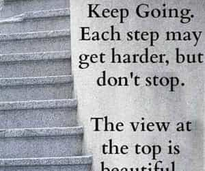 advice, quote, and dont give up image