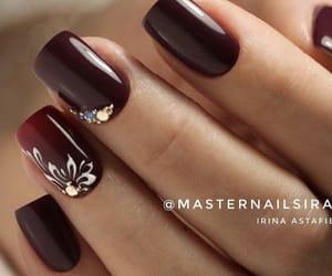 burgundy, christmas, and nails image