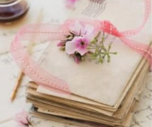 letters, vintage, and pink image