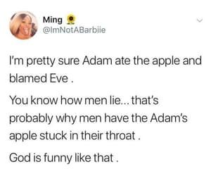 adam & eve, lol, and boys image